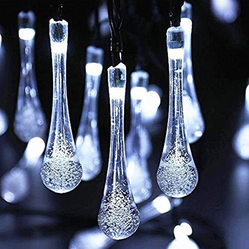 MJYT - Guirnalda luminosa con 2 cuerdas de iluminación, 30 ledes, color blanco frío