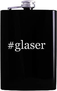 #glaser - 8oz Hashtag Hip Alcohol Drinking Flask, Black