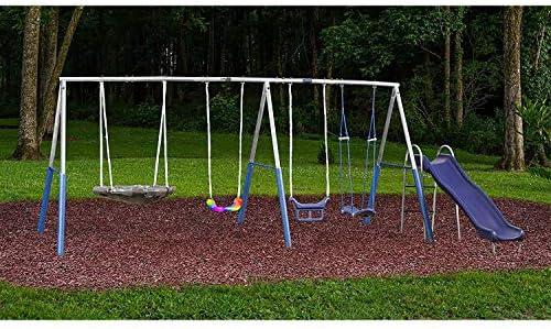 XDP Surf N Swingin Plus Multiple Swing Backyard Metal Playground Swing and Slide Set for Kids product image