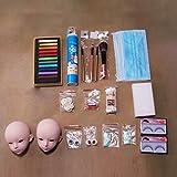 DUS Kit de Maquillaje para BJD Doll Head Cabeza de Muñeca para Maquillar (15 Herramientas/sin Aceite Brillante, Desmaquillante y Pegamento)