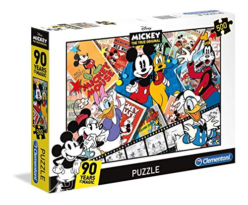 Clementoni 35061 Disney Mickey 90 Years of Magic Puzzle, 500 Teile, Mehrfarbig