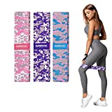 IMRIDER Exercise Resistance Fabric Bands for Women, Non-Slip Resistance Workout Bands for Legs and Butt, 3 Resistance Levels of Hip Training Bands
