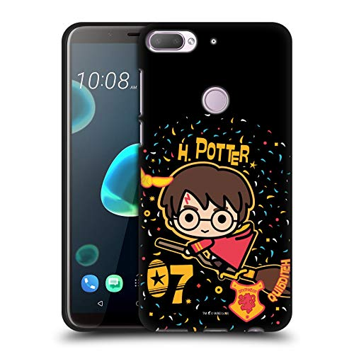 Officiële Harry Potter Zwerkbal Bezem Dood Hels I Black Soft Gel Case Compatibel voor HTC Desire 12 Plus