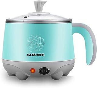 Hot Pot Multi-función Mini Cocina Eléctrica Dormitorio del Estudiante Potencia Pequeña Fideos Pot 304 Acero Inoxidable, 600W (Edición : Olla Simple)