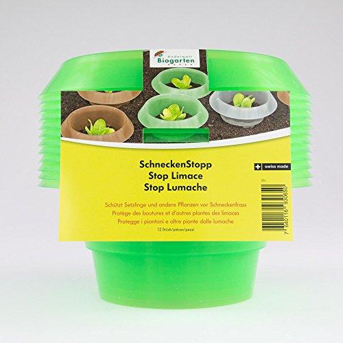 Andermatt Biogarten AG SchneckenStopp PP, grün, Set à 12 Stück