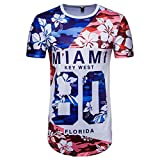 OVERDOSE Maillot de Football, Été Homme Rétro 3D T-Shirt à Imprimé Sport Casual...