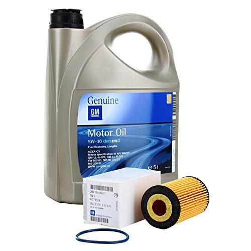 Opel Kit aus Filter und Motoröl, GM, Opel, Öl 5W-30,5Liter, Benzinmotoren
