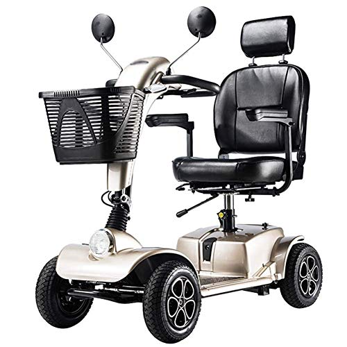 FTFTO Decoración Viva Scooter eléctrico Plegable discapacitado Estilo Antiguo vehículo eléctrico de...
