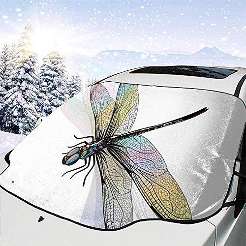 Preisvergleich Produktbild NACYBATH Shady Dragonfly Pattern mit reich verzierten Spitzen-Stil Ancient Beauty Wings Design Auto Windschutzscheibe Cover Faltbare Sonnenblende