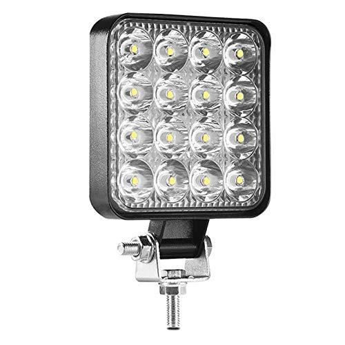 Prettyia 48W Square Spot/Flood Work Light Bar Lámpara de Conducción Antiniebla Tractor de Camión 16 LED