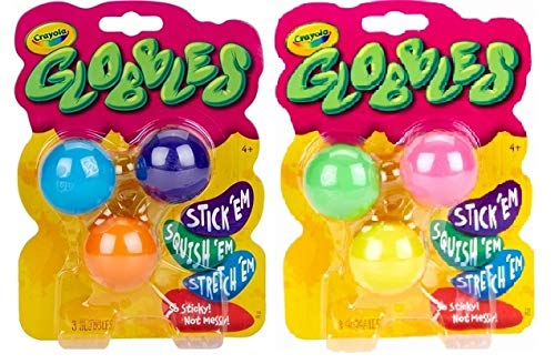 Globbles Fidget & Squish Toys - Stocking Stuffers, Gift for Kids, 6 Count Age 4, 5, 6, 7, 8