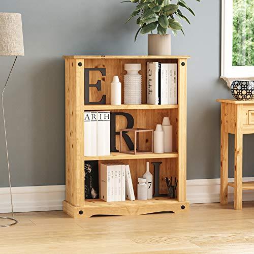 Vida Designs Corona Buch- und DVD-Regal aus Holz, Klein, Pinie