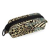 Astuccio portamatite di alta qualità con cerniera grande Tasca per cancelleria Leopard Zebra Tiger Stampa animalier