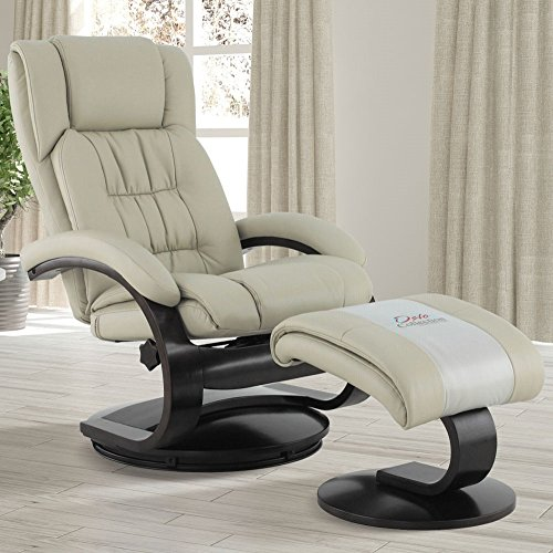 Mac Motion Oslo Collection Narvick Recliner and Ottoman in Beige...