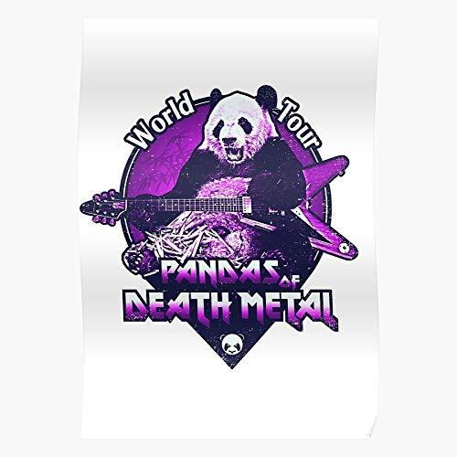 Heavy Rock Funny Band Panda Metal Death Pandas Regalo para la decoración del hogar Wall Art Print Poster 11.7 x 16.5 inch