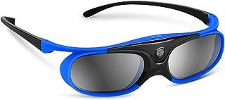 BOBLOV 3D Gafas Activas de Obturador, 96-144Hz 3D Gafas DLP-Link para DLP Proyector Optoma/BenQ/Sharp/Acer/Samsung/Mitsubishi/ViewSonic/LG ect (Azul)