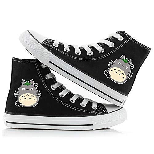 SevenLeo Zapatillas Hombre Zapatos Hombre Zapatillas Mujer Bambas Mujer Unisex Zapatillas Lona Zapatos Casuales Zapatos De Niño Niña Zapatos Totoro Anime Shoes 43