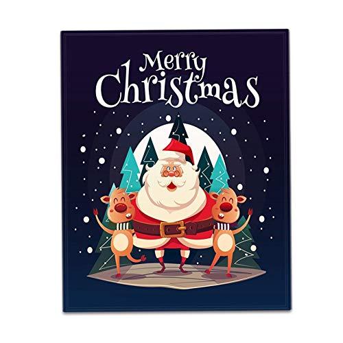 Manta de forro polar con estampado navideño con letra impresa para papá y mamá para el correo aéreo de la hija, manta de franela, regalo