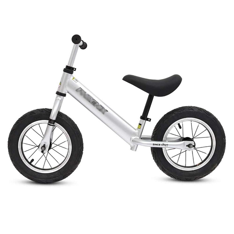 ペダルなし自転車 バランスバイク - 2、3、4、5、6歳の子供用の幼児用トレーニング自転車 - ペダルプッシュ式自転車なし (色 : シルバー しるば゜)