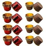 Lezed Moldes Magdalenas Papel de Aluminio para Cupcakes Muffin Tazas de Repostería para Tartas Mollete Magdalena Herramienta Cocina para Pasteles bakery para Cocina Boda Fiesta Cumpleaños 50 Piezas