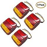 Piloto trasero de la caravana, Camión remolque Lemonbest 12V Piloto trasero de LED 26 Luces traseras Piloto Trasero, Camión, Remolque, Camión, Van Caravan (Pack of 4X)