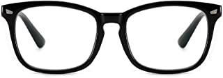 Cyuxs Blue Light Filter Nearsighted Myopia Glasses, [Anti Eyestrain] [UV Blocking] Cell Phone Computer Reading Glasses, Men & Women