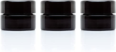 Infinity Jars 5 Ml (.17 fl oz) Palm Size Black Ultraviolet Glass Screwtop Jar 3-Pack