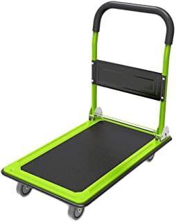 BTYAY Folding Platform Cart Rolling Flatbed Cart Hand Platform Truck Push Dolly for Loading (Color : Green)