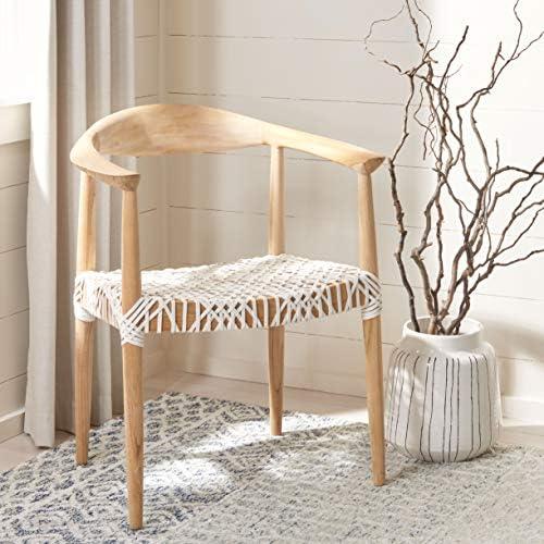 Best Safavieh Home Collection Wade Light Oak Teak Wood Arm Chair