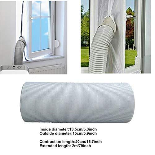 1.5M Länge Zusammenziehbar Abluftschlauch PVC flexibel für mobile Klimageräte (Diameter 13cm Lenth 2M)