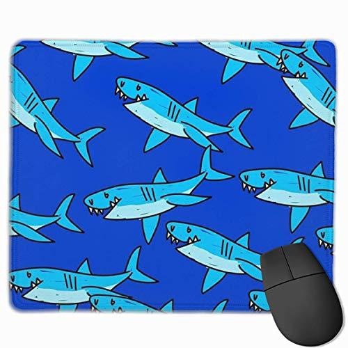 Nettes Gaming-Mauspad, Schreibtisch-Mauspad, kleines Mauspad für Laptop-Computer, Mausmatte Nettes blaues Haifisch-Hintergrundbild-Hintergrunddesign