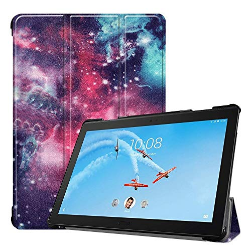 chengcunxing Repair tools, and normal work Coloured Drawing Pattern Horizontal Deformation Flip Leather Case for Lenovo Tab P10 10.1 inch, with Three-folding Holder & Sleep/Wake-up Function,Simple an