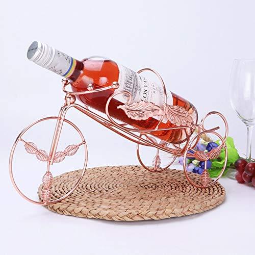 XXHDEE Kreative Weinregal Dekoration Europäischen Ausstellungsstand Weinschrank Dekoration Weinregal Wohnzimmer Eisen Weinflaschenhalter 25x22x8 cm Weinregal (Color : Rose golden)