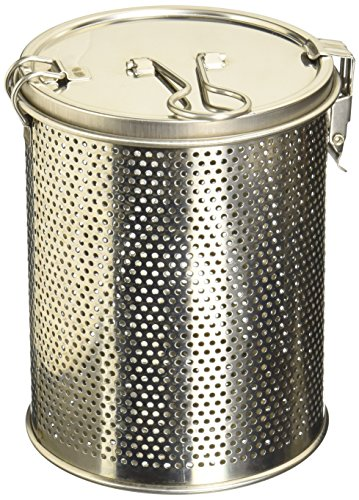 Commercial Grade D 3.9' X H 5.3' Genuine Stainless Steel 18/8 Perforated Strainer - One Touch Lock System - Restaurant & Home Use