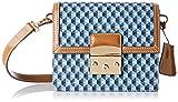Mac Douglas Femme Jazzy Paloma XS Sac Porte Epaule Multicolore (Bleu Marron)