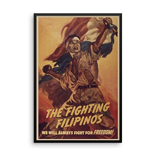 Vintage poster - The Fighting Filipinos 1215 - Premium Luster Photo Paper Framed Poster (24x36)