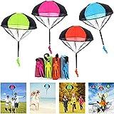 JWTOYZ Fallschirm Spielzeug Kinder, Fallschirm Kinder Fallschirmspringer Spielzeug, Outdoor Flugspielzeug für Kinder (4pcs)