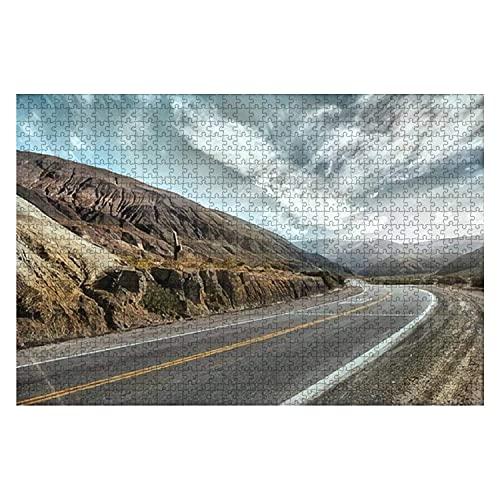 1000 piezas Cinematic Road Landcape Valle de Humahuaca Altiplano Argentina Rompecabezas de piezas grandes para adultos Juguete educativo para niños Juegos creativos Entretenimiento Rompecabezas de mad