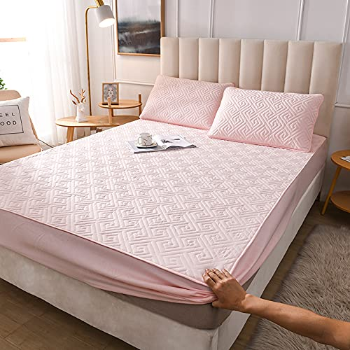 IKITOBI Sábana bajera ajustable para cama doble, suave, cómoda, lavable a máquina, transpirable, 135 x 190 cm