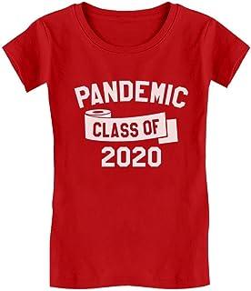 Class of 2020 Quarantine Shirt Funny Graduation Toddler Kids Girls' Fitted T-Shirt