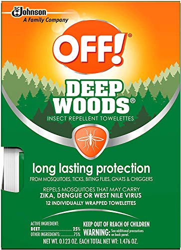 OFF! Deep Woods Insect Repellent Towelettes (Pack - 4)