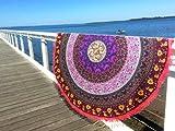 Indian Mandala redondo Roundie Beach manta tapiz Hippy Boho Gypsy algodón mantel toalla de playa, redondo esterilla de yoga playa redondo mantón, 72pulgadas playa ocio, Picnic Mat Aakriti galería