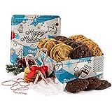 David's Cookies  Assorted Fresh-Baked Winter Wonderland Christmas Gift Tin  2 lb