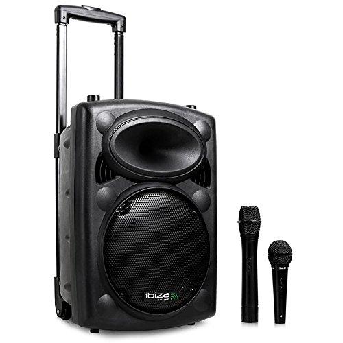 Sistema de sonido portátil Ibiza Sound Port8VHF-BT.