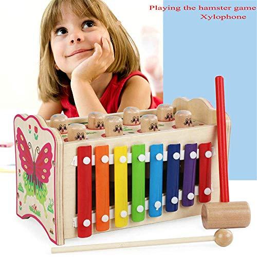 Soul hill Hämmern Stampfen Spielzeug Holz pädagogisches Spielzeug Xylophone Form Sorter, Weihnachten Geburtstags-Geschenk for Jungen-Mädchen-Baby-Kleinkind Developmental Learning-Block-Spielzeug