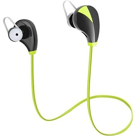 SoundPEATS【メーカー直販/1年保証付】QY7 Bluetooth イヤホン 高音質 ハンズフリー通話 CVC6.0 ノイズキャンセリング搭載 防水 防滴 スポーツ仕様 ワイヤレス イヤホン(ブラック/レッド)