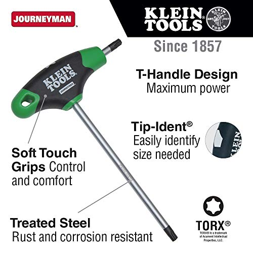 Klein Tools JTH6T15 T15 Torx Hex Key with Journeyman T-Handle, 6-Inch