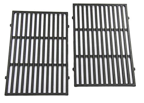 Hongso 7638 17.5 Inch Cast Iron Cooking Grill Grates Replacement Part for Weber Spirit 300, 310, 320 Series, Spirit 700, Genesis Silver B/C, Genesis Gold B/C, Genesis Platinum B/C Gas Grills, 2-Pack