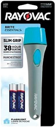 Rayovac Vbj2Aa-B Brite Essentials Led Slim Grip Flashlight, 18 Lumens