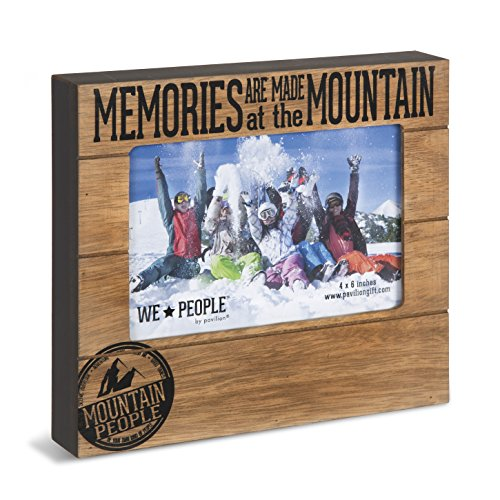 Pavilion Gift Company 67068 Memories are Made at The Mountain Photo Frame, 7-1/2 x 6-3/4'